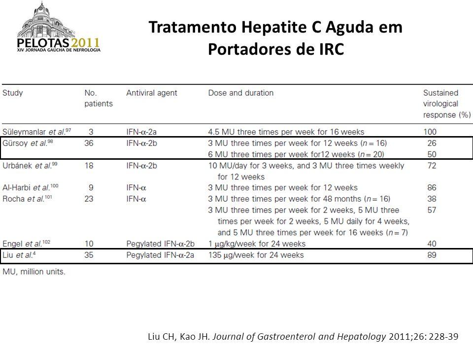 Tratamento Hepatite C Aguda em Portadores de IRC