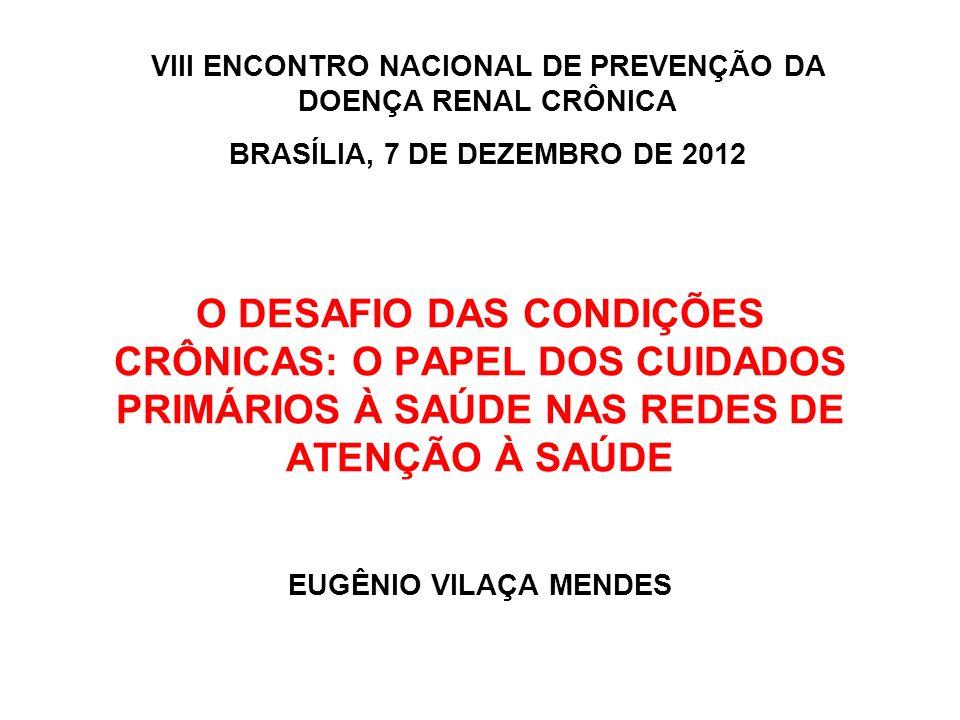 VIII ENCONTRO NACIONAL DE PREVENÇÃO DA DOENÇA RENAL CRÔNICA