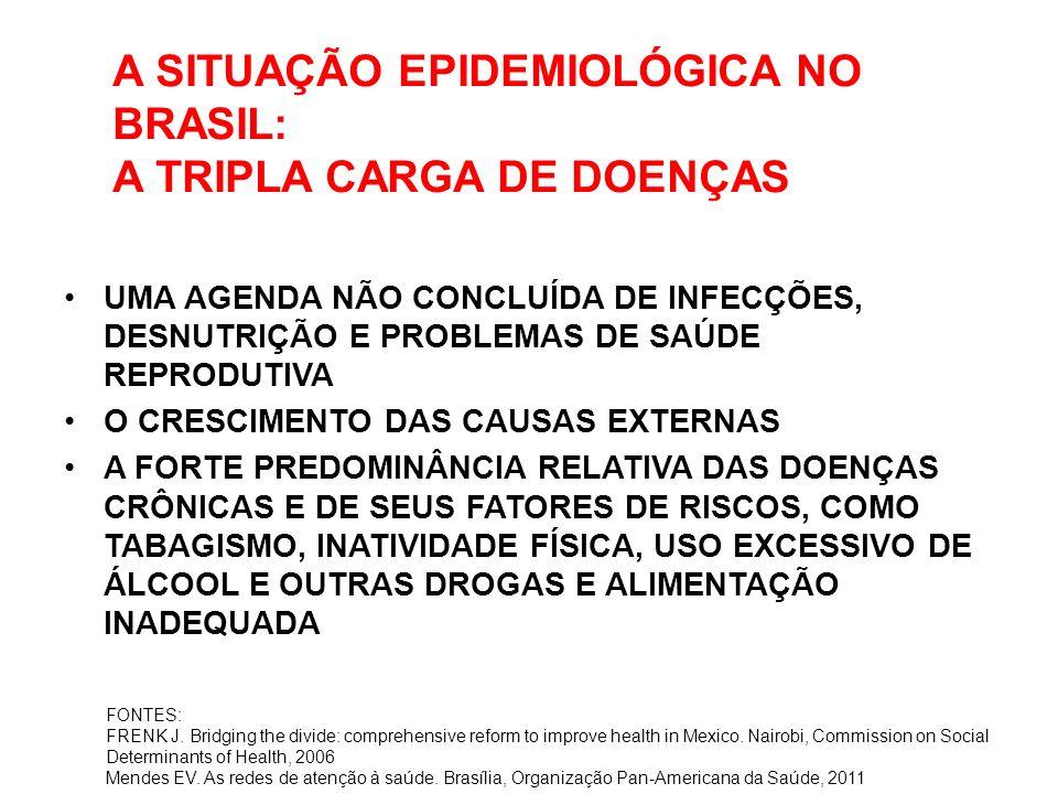 A SITUAÇÃO EPIDEMIOLÓGICA NO BRASIL: A TRIPLA CARGA DE DOENÇAS