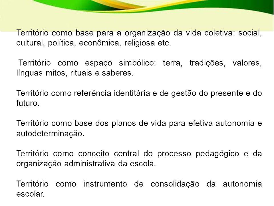 Território como instrumento de consolidação da autonomia escolar.