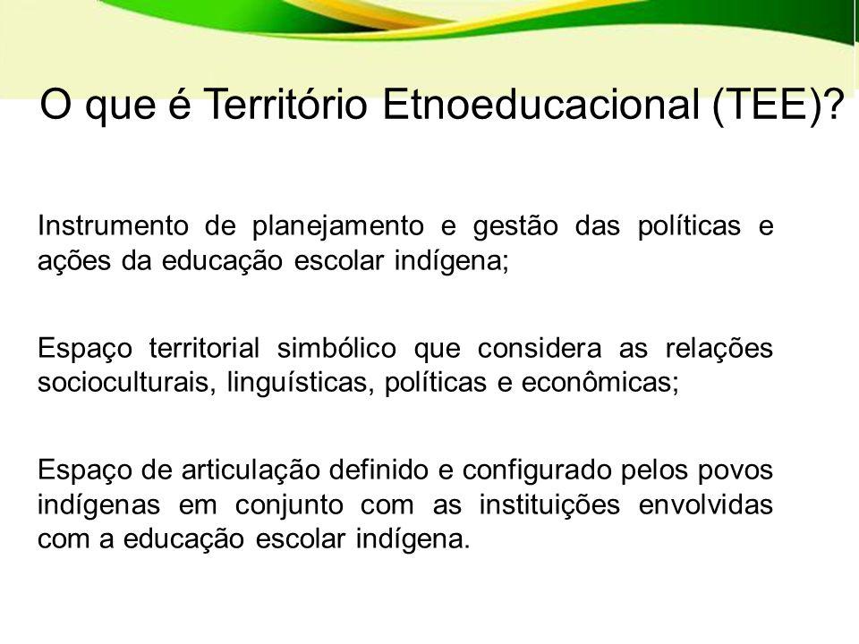 O que é Território Etnoeducacional (TEE)