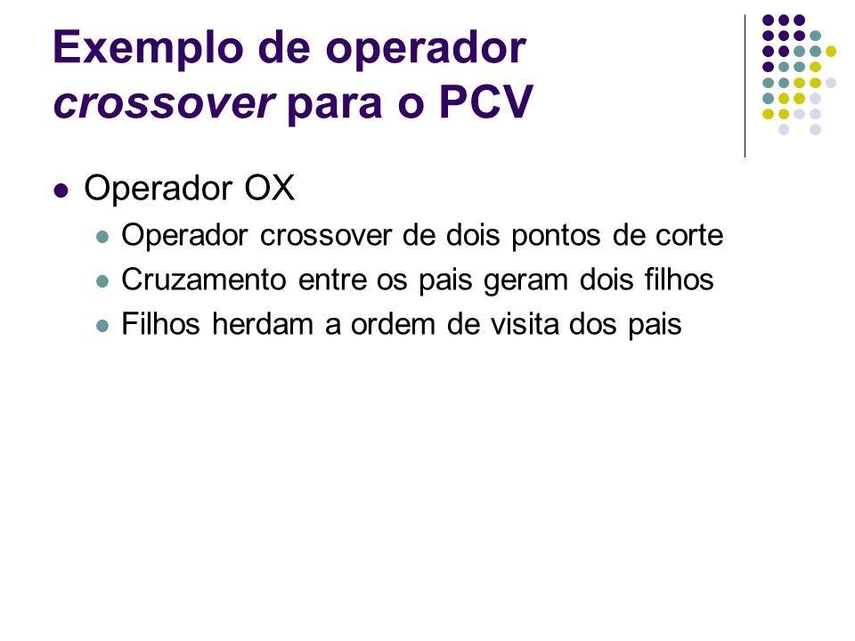 Exemplo de operador crossover para o PCV