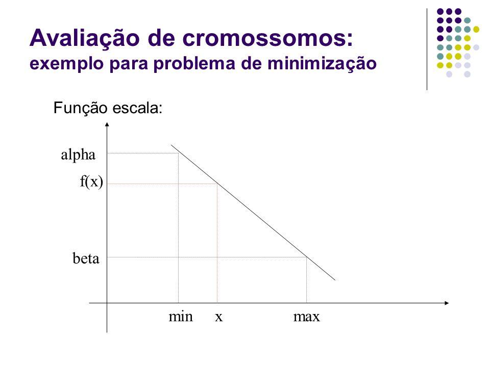 Avaliação de cromossomos: exemplo para problema de minimização