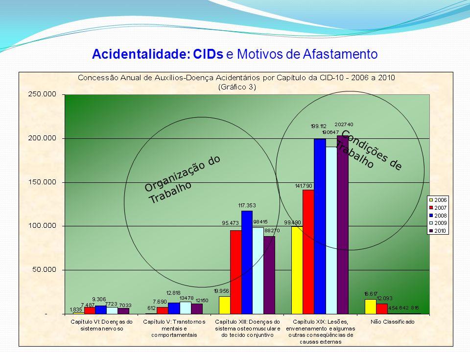 Acidentalidade: CIDs e Motivos de Afastamento