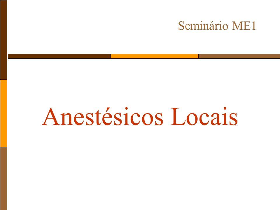 Seminário ME1 Anestésicos Locais
