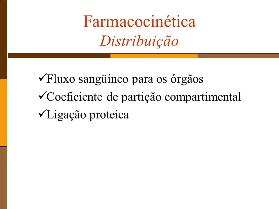 Farmacocinética Distribuição