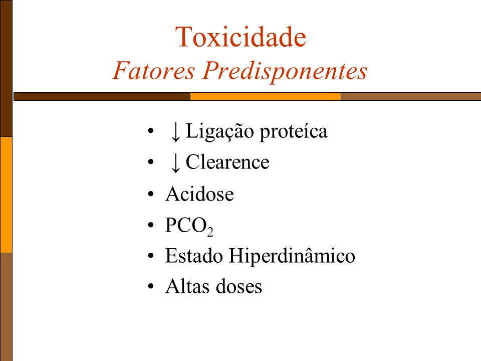 Toxicidade Fatores Predisponentes