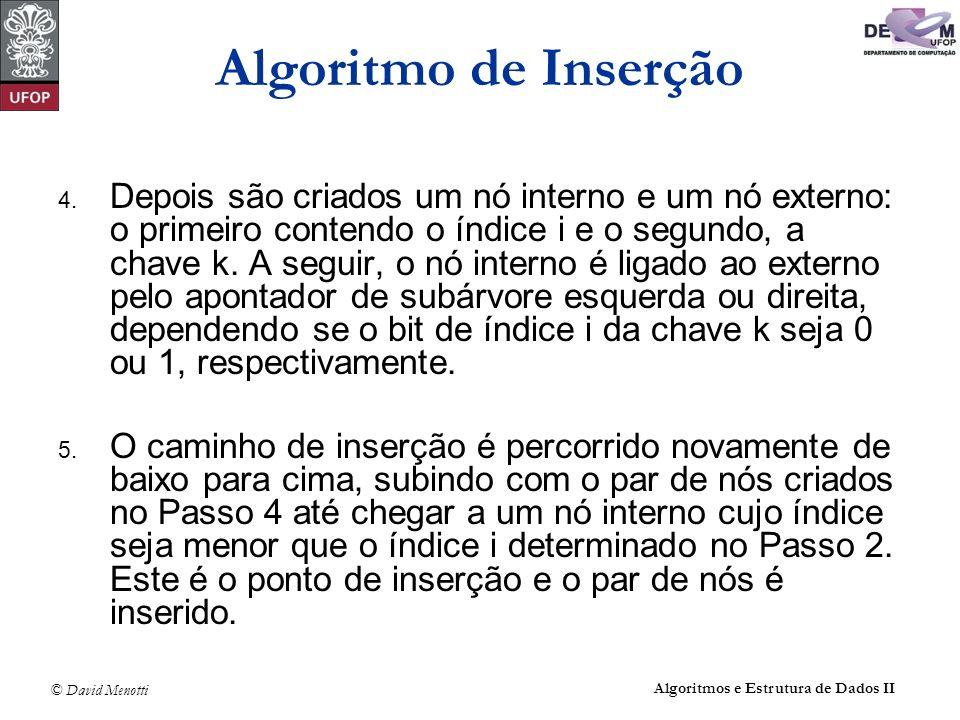 Algoritmo de Inserção