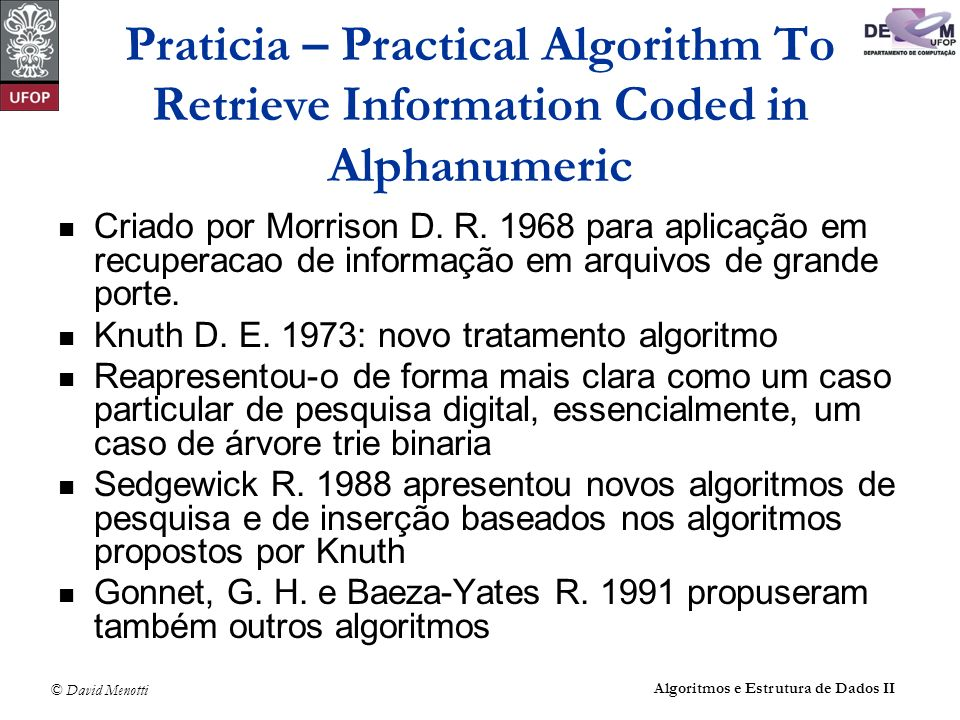 Praticia – Practical Algorithm To Retrieve Information Coded in Alphanumeric