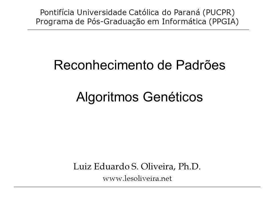 Reconhecimento de Padrões Algoritmos Genéticos