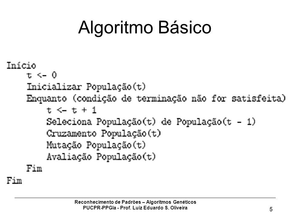 Algoritmo Básico Reconhecimento de Padrões – Algoritmos Genéticos