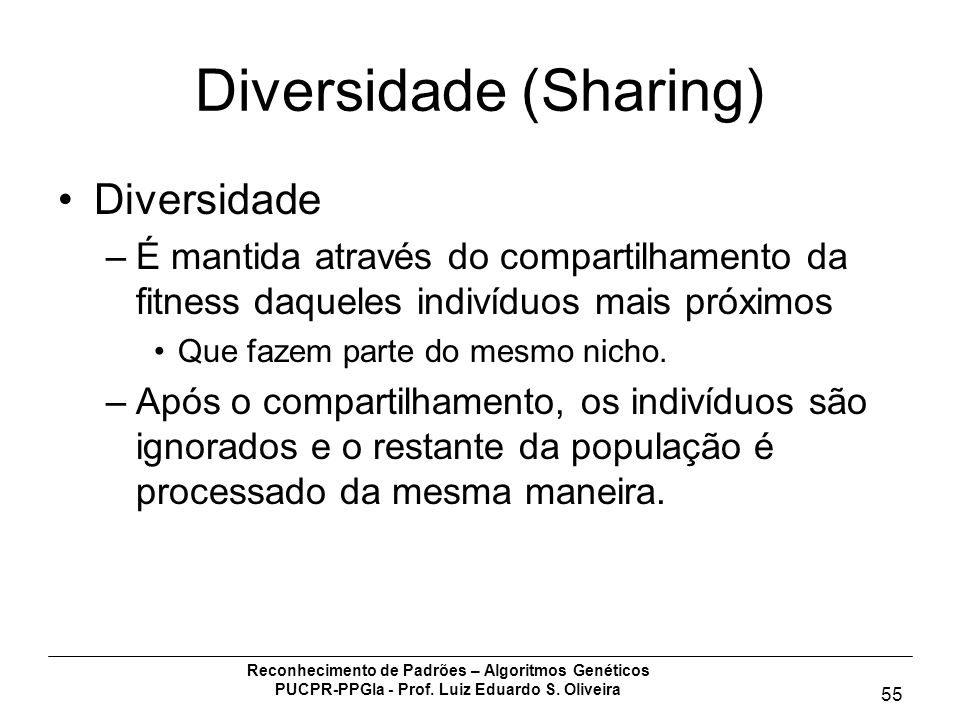 Diversidade (Sharing)