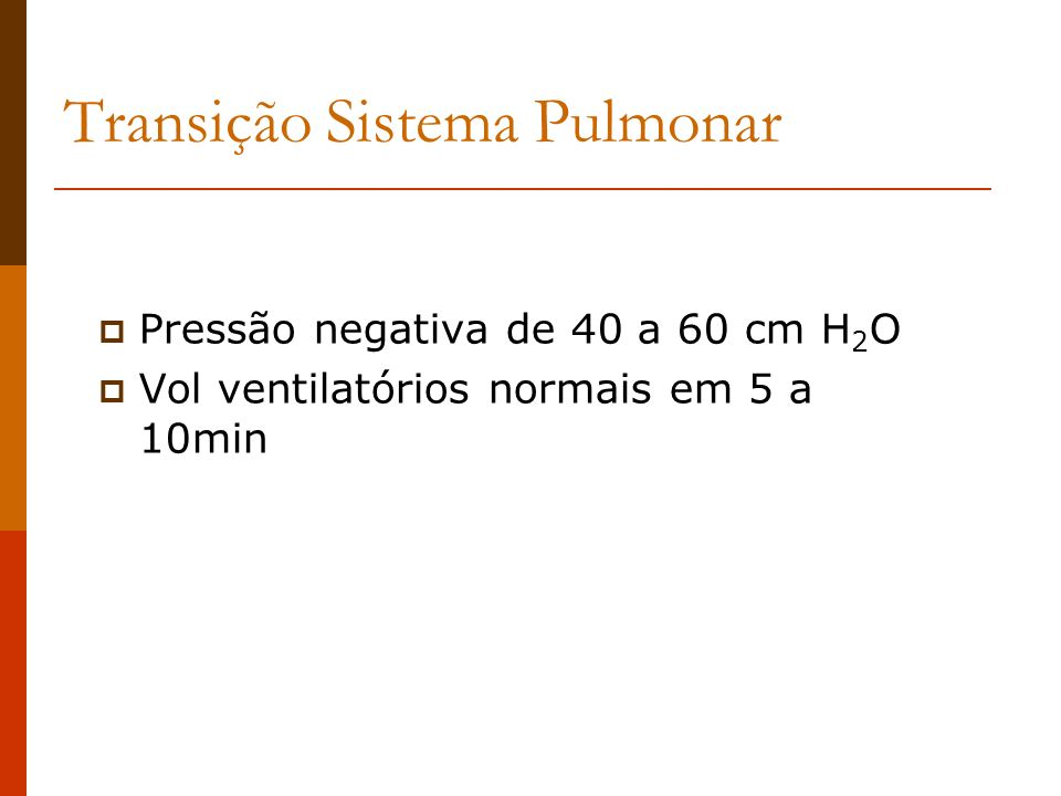 Transição Sistema Pulmonar