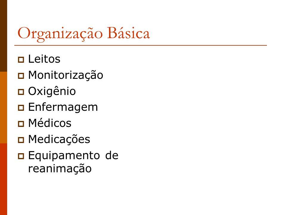 Organização Básica Leitos Monitorização Oxigênio Enfermagem Médicos