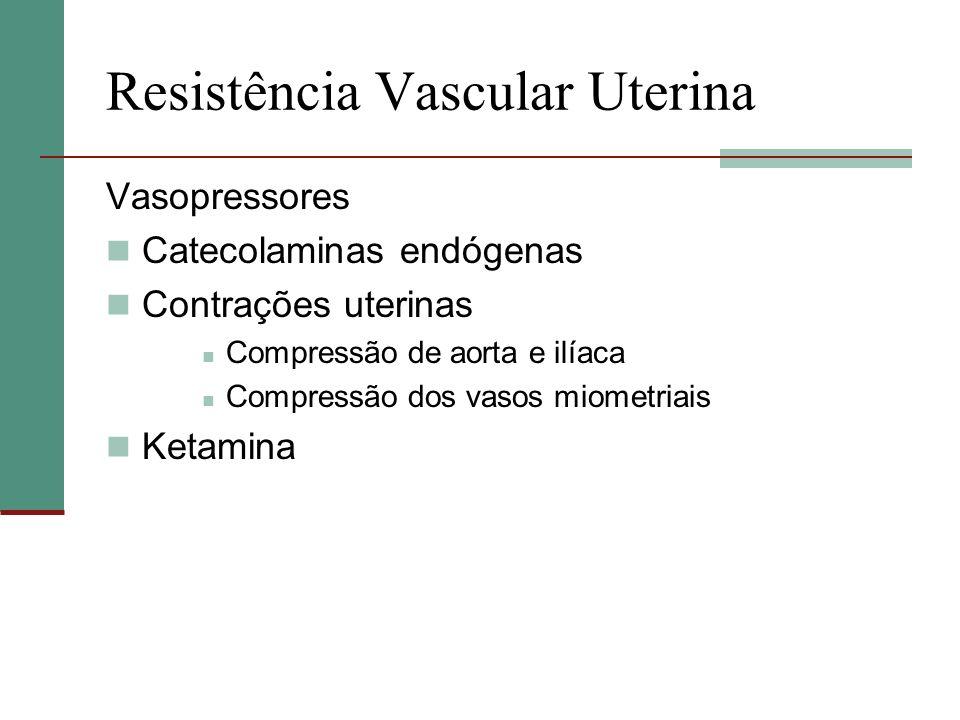 Resistência Vascular Uterina