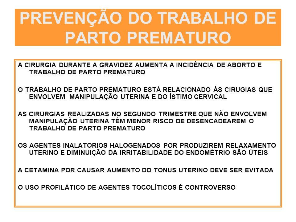PREVENÇÃO DO TRABALHO DE PARTO PREMATURO