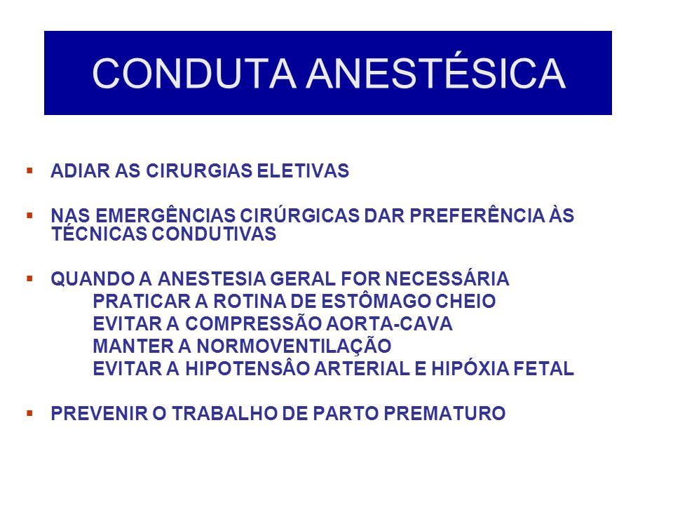 CONDUTA ANESTÉSICA ADIAR AS CIRURGIAS ELETIVAS