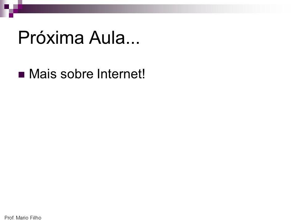 Próxima Aula... Mais sobre Internet! Prof. Mario Filho