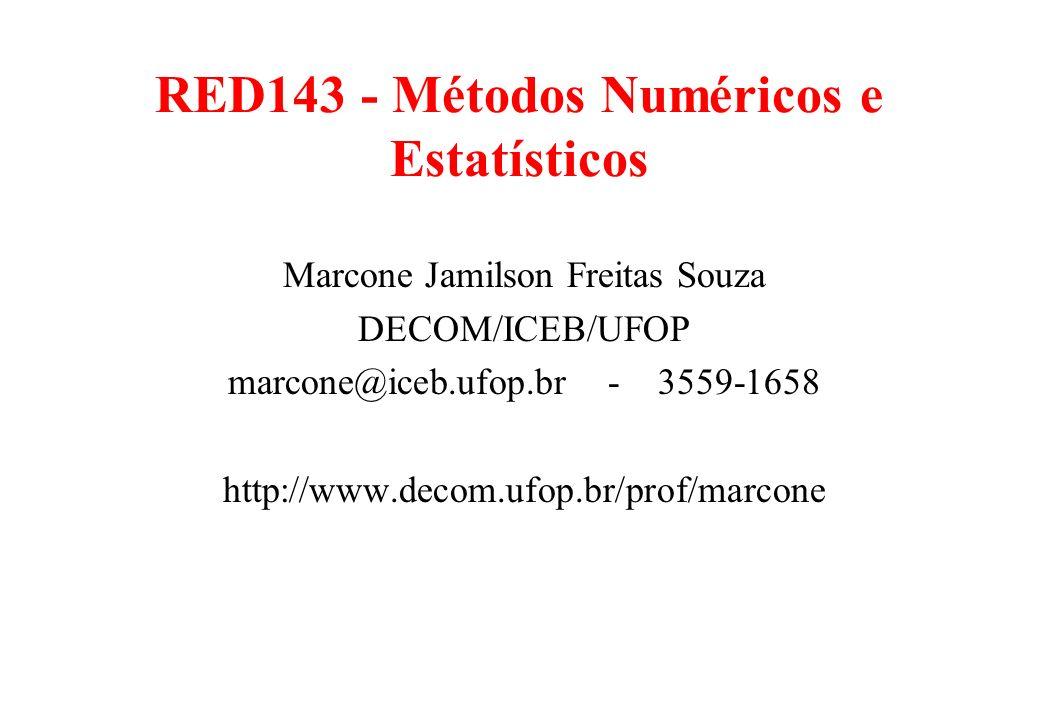 RED143 - Métodos Numéricos e Estatísticos