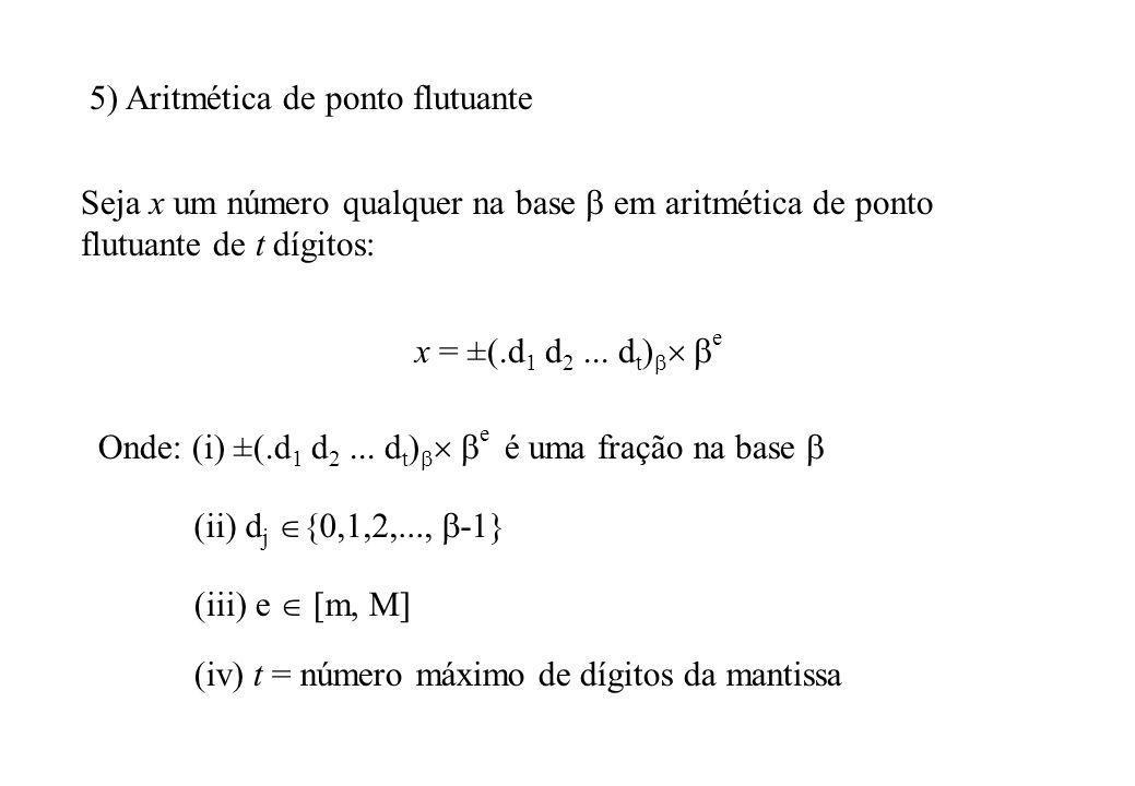 5) Aritmética de ponto flutuante