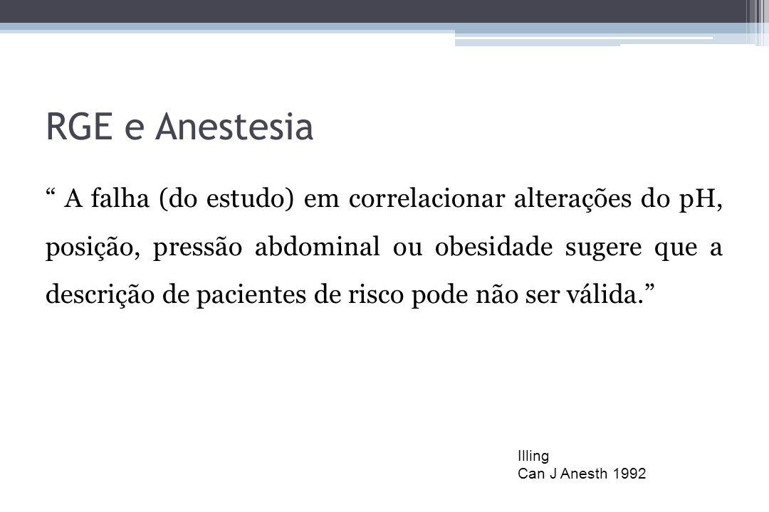 RGE e Anestesia