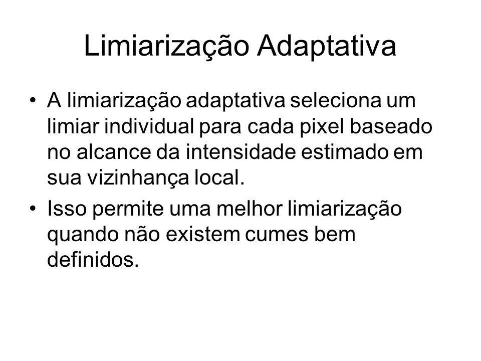 Limiarização Adaptativa