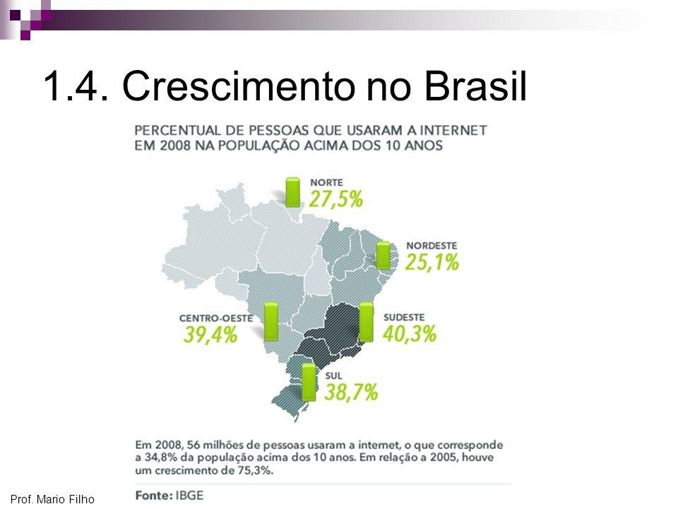 1.4. Crescimento no Brasil Prof. Mario Filho