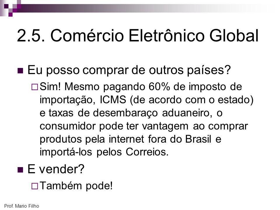 2.5. Comércio Eletrônico Global