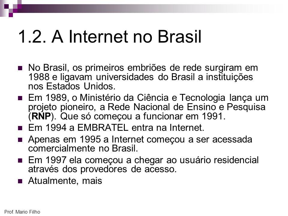 1.2. A Internet no Brasil