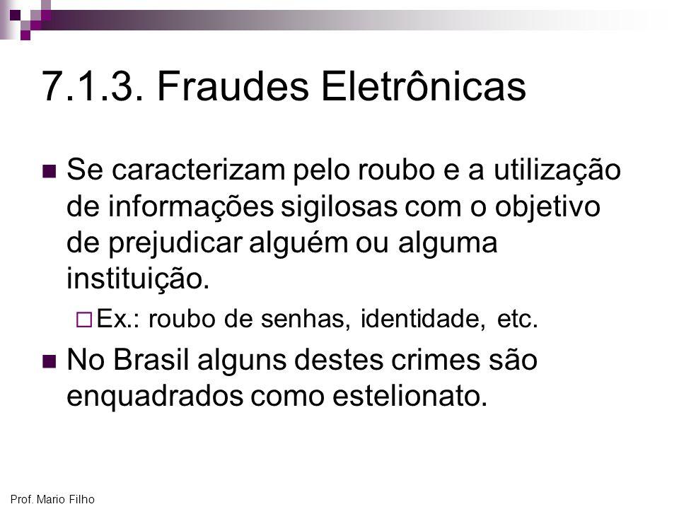 7.1.3. Fraudes Eletrônicas