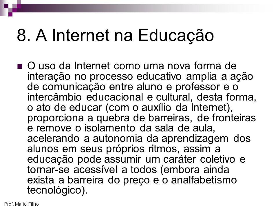 8. A Internet na Educação