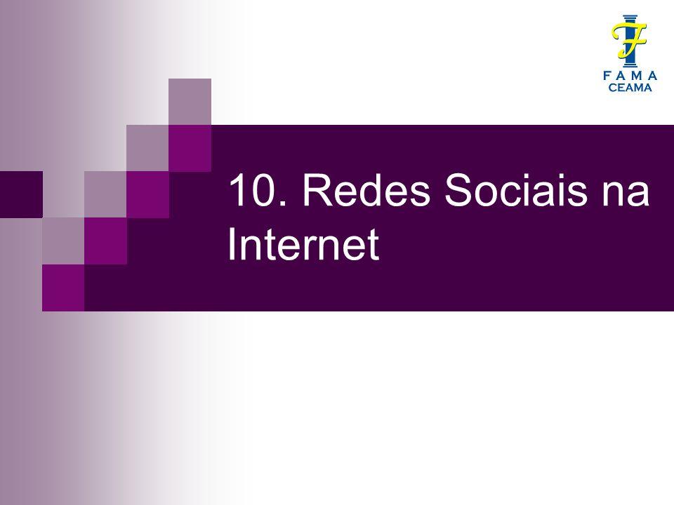 10. Redes Sociais na Internet