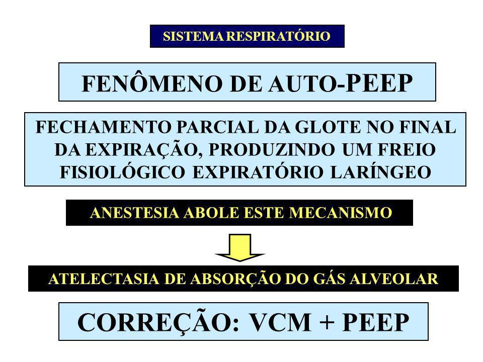 ANESTESIA ABOLE ESTE MECANISMO ATELECTASIA DE ABSORÇÃO DO GÁS ALVEOLAR