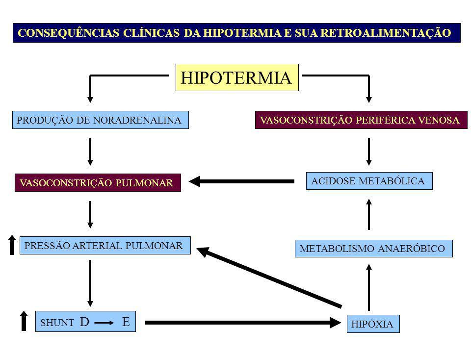HIPOTERMIA CONSEQUÊNCIAS CLÍNICAS DA HIPOTERMIA E SUA RETROALIMENTAÇÃO