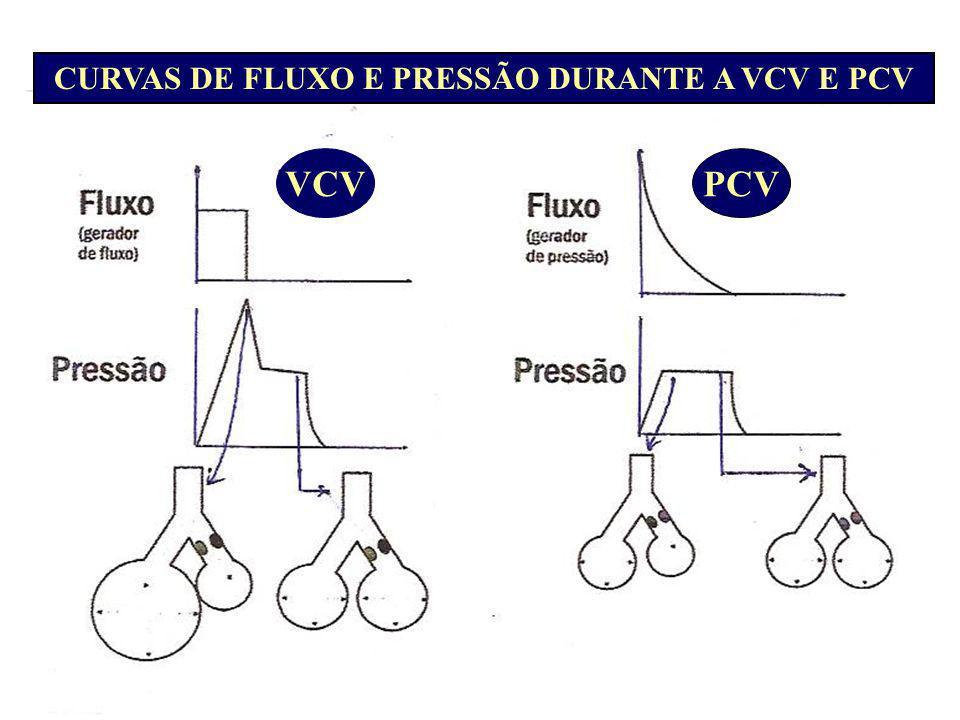 CURVAS DE FLUXO E PRESSÃO DURANTE A VCV E PCV