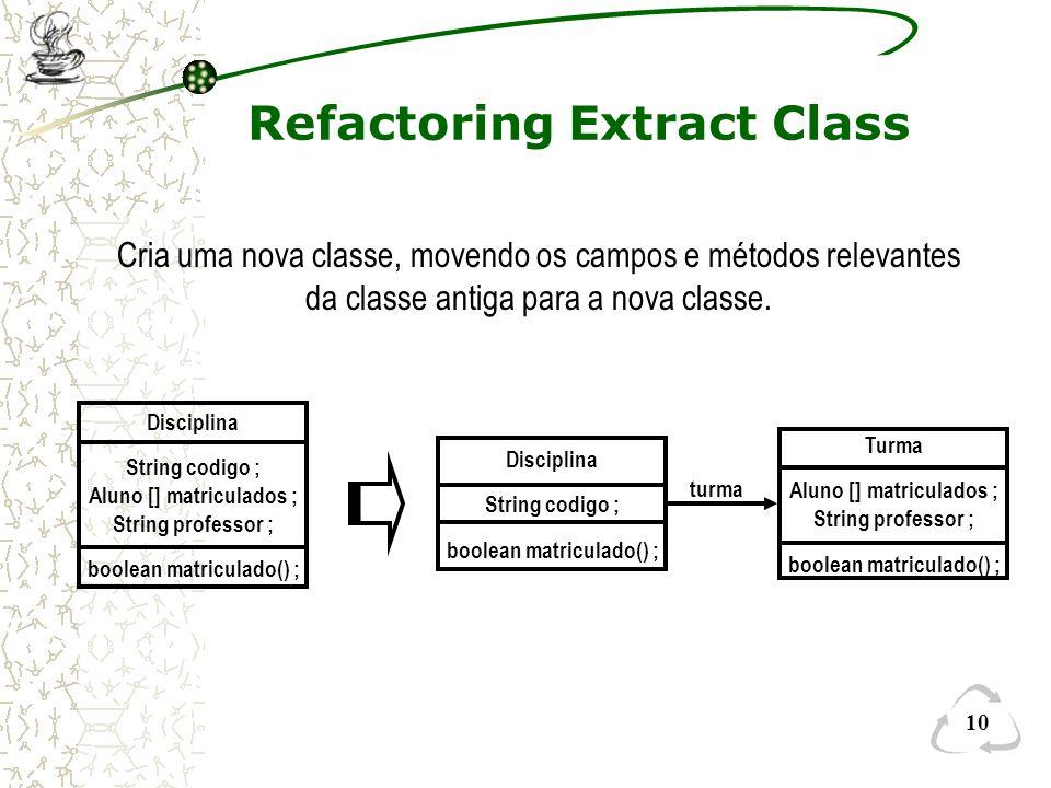 Refactoring Extract Class