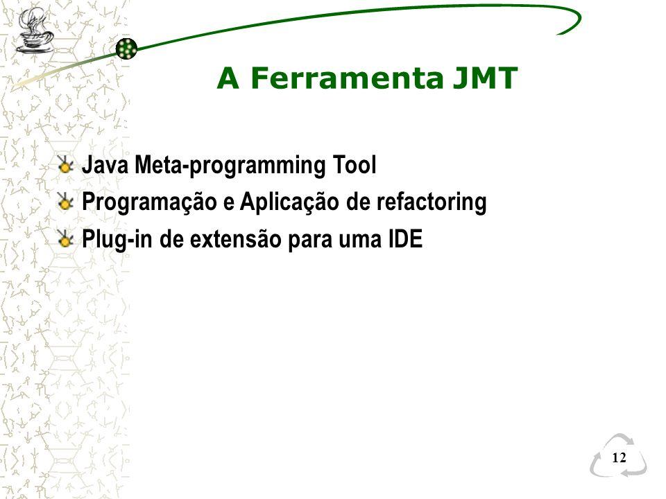 A Ferramenta JMT Java Meta-programming Tool