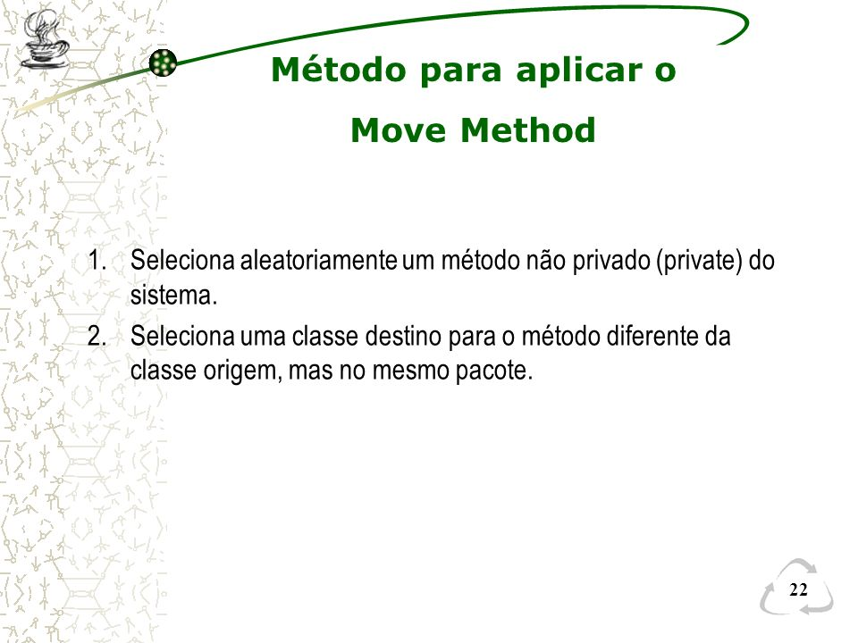 Método para aplicar o Move Method
