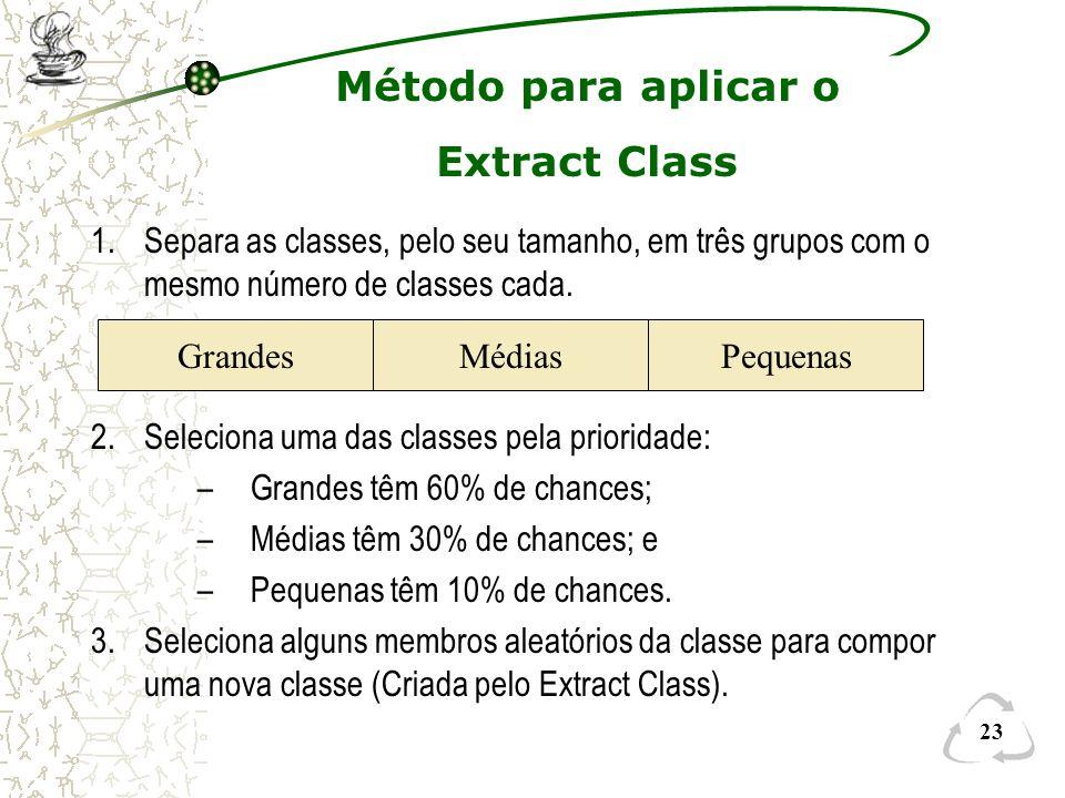 Método para aplicar o Extract Class