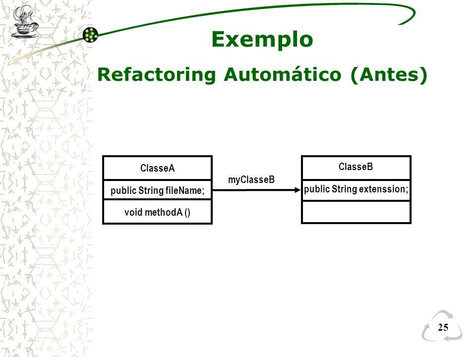 Refactoring Automático (Antes)