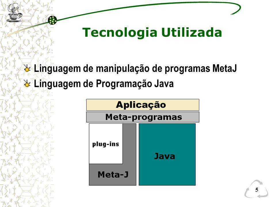 Tecnologia Utilizada Linguagem de manipulação de programas MetaJ