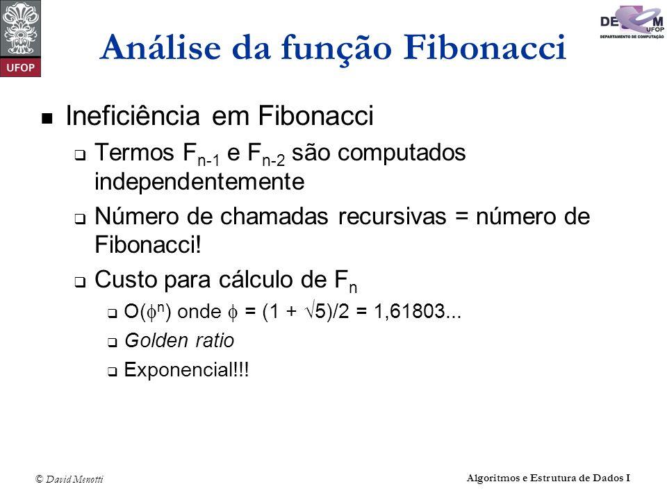 Análise da função Fibonacci