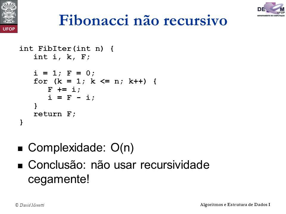 Fibonacci não recursivo