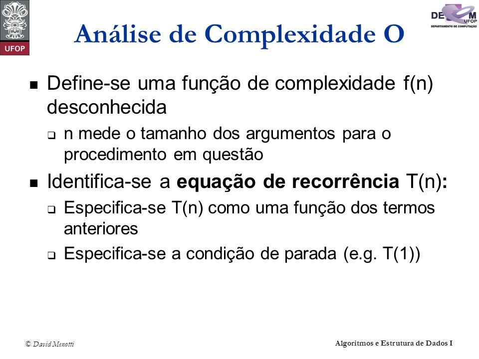 Análise de Complexidade O