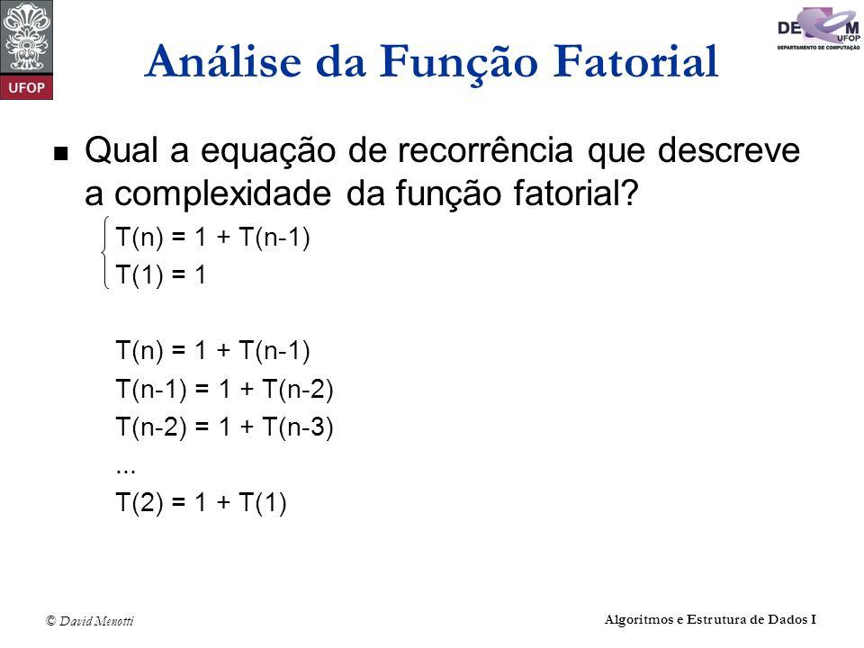 Análise da Função Fatorial