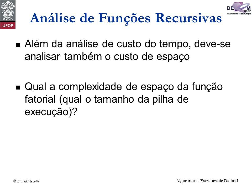 Análise de Funções Recursivas