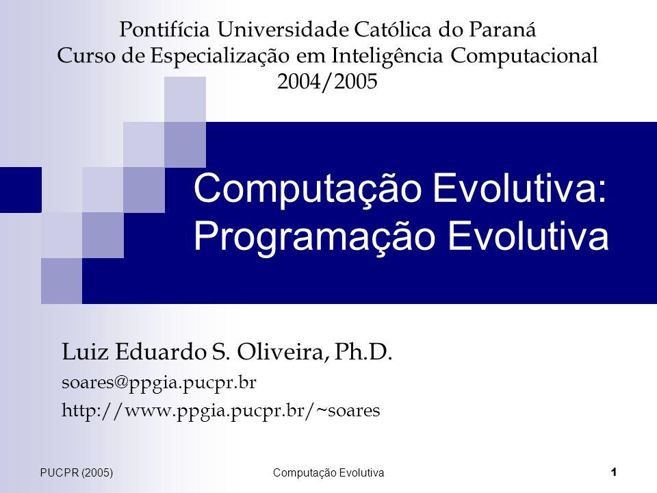Computação Evolutiva: Programação Evolutiva