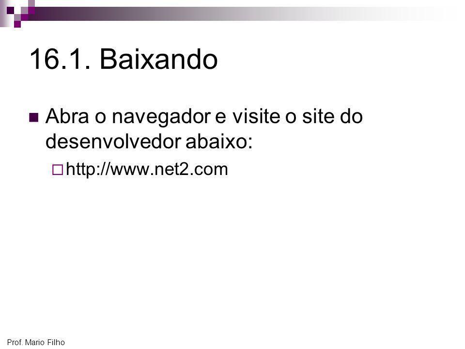 16.1. Baixando Abra o navegador e visite o site do desenvolvedor abaixo: http://www.net2.com.