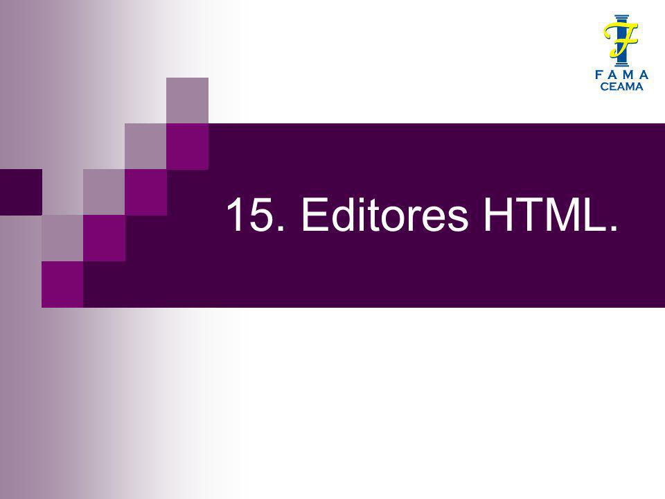 15. Editores HTML.