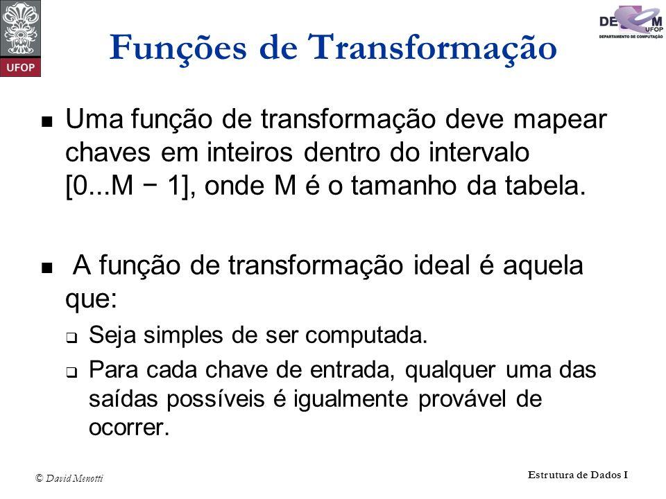 Funções de Transformação